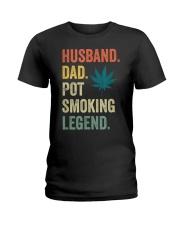 Weed Dad Shirt Stoner Gifts Husband T-Shirt  Ladies T-Shirt thumbnail