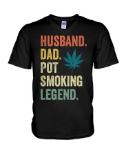 Weed Dad Shirt Stoner Gifts Husband T-Shirt  V-Neck T-Shirt thumbnail