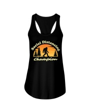 Social Distancing Champion Vintage Sasquatch Ladies Flowy Tank tile