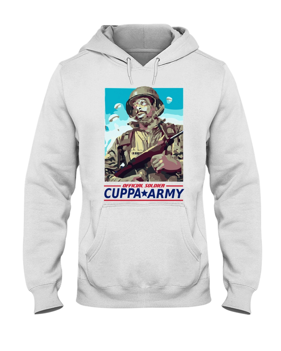 Cuppa Army T-shirt Official Hooded Sweatshirt