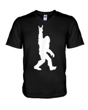 Bigfoot Rock and Roll Tshirt for Sasquatch V-Neck T-Shirt tile