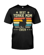 Womens Best Yorkie Mom Ever Funny Puppy Yorkie Classic T-Shirt thumbnail