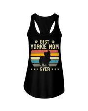 Womens Best Yorkie Mom Ever Funny Puppy Yorkie Ladies Flowy Tank thumbnail