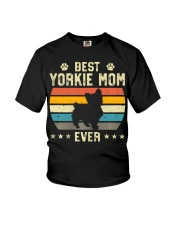 Womens Best Yorkie Mom Ever Funny Puppy Yorkie Youth T-Shirt thumbnail