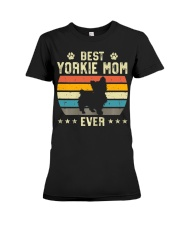 Womens Best Yorkie Mom Ever Funny Puppy Yorkie Premium Fit Ladies Tee thumbnail