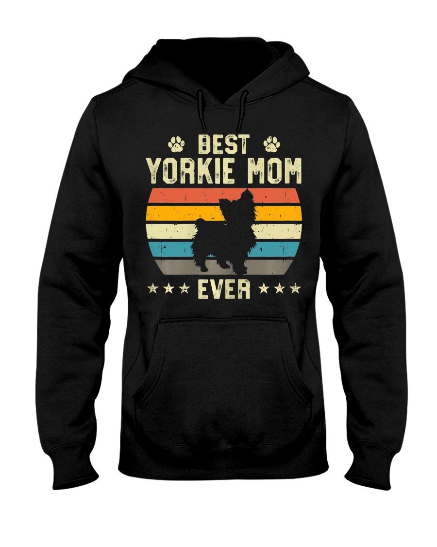 Womens Best Yorkie Mom Ever Funny Puppy Yorkie Hooded Sweatshirt