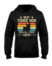 Womens Best Yorkie Mom Ever Funny Puppy Yorkie Hooded Sweatshirt front