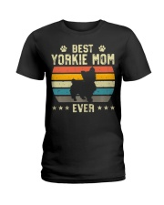 Womens Best Yorkie Mom Ever Funny Puppy Yorkie Ladies T-Shirt thumbnail