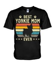 Womens Best Yorkie Mom Ever Funny Puppy Yorkie V-Neck T-Shirt thumbnail
