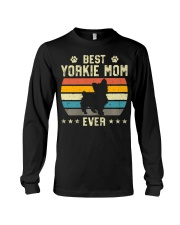 Womens Best Yorkie Mom Ever Funny Puppy Yorkie Long Sleeve Tee thumbnail