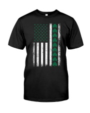 St Patrick's Day IRISH AMERICAN FLAG Vintage Premium Fit Mens Tee thumbnail