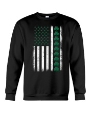 St Patrick's Day IRISH AMERICAN FLAG Vintage Crewneck Sweatshirt tile