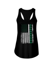 St Patrick's Day IRISH AMERICAN FLAG Vintage Ladies Flowy Tank thumbnail