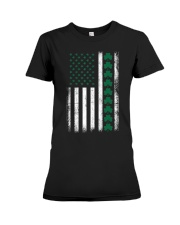 St Patrick's Day IRISH AMERICAN FLAG Vintage Premium Fit Ladies Tee thumbnail