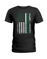St Patrick's Day IRISH AMERICAN FLAG Vintage Ladies T-Shirt thumbnail