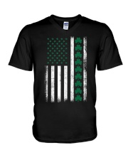 St Patrick's Day IRISH AMERICAN FLAG Vintage V-Neck T-Shirt thumbnail
