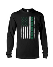 St Patrick's Day IRISH AMERICAN FLAG Vintage Long Sleeve Tee thumbnail