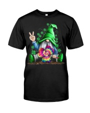 Hippie Gnomes T-Shirt Hippie Clover St Patrick's Classic T-Shirt thumbnail