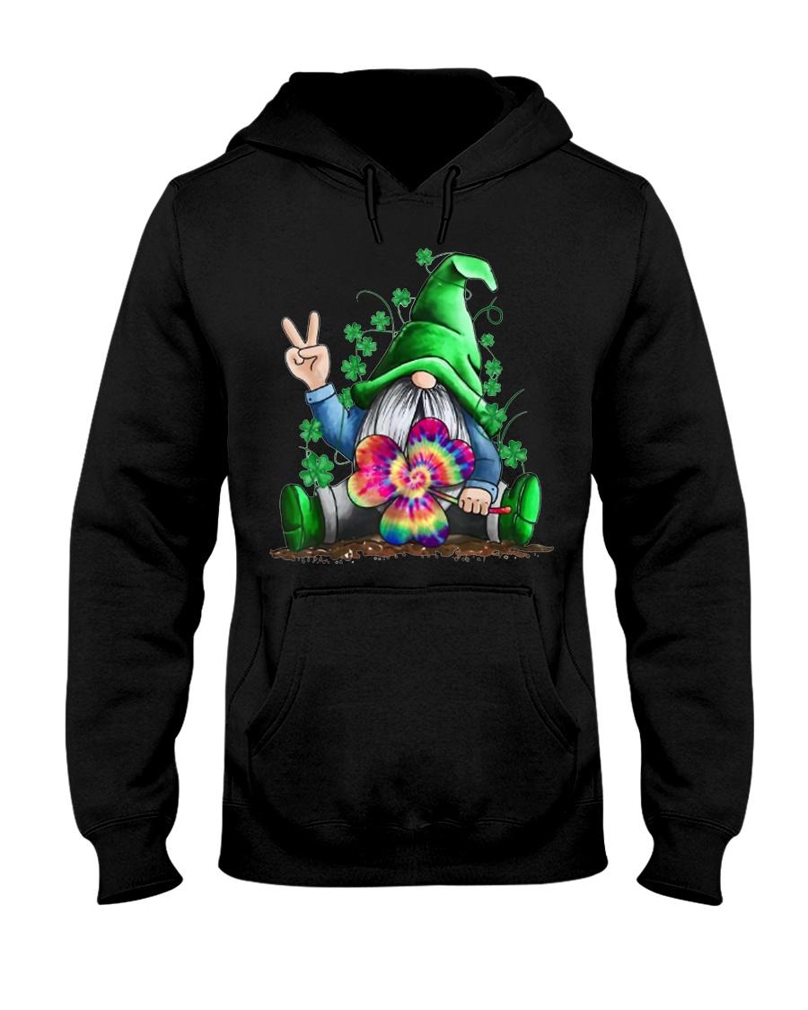Hippie Gnomes T-Shirt Hippie Clover St Patrick's Hooded Sweatshirt