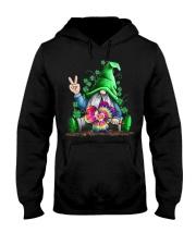 Hippie Gnomes T-Shirt Hippie Clover St Patrick's Hooded Sweatshirt front