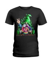 Hippie Gnomes T-Shirt Hippie Clover St Patrick's Ladies T-Shirt thumbnail