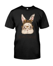 Mama Bunny Easter Rabbit Leopard Bandana Glasses Classic T-Shirt thumbnail
