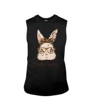 Mama Bunny Easter Rabbit Leopard Bandana Glasses Sleeveless Tee thumbnail
