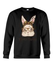Mama Bunny Easter Rabbit Leopard Bandana Glasses Crewneck Sweatshirt thumbnail