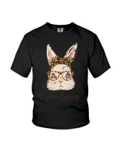 Mama Bunny Easter Rabbit Leopard Bandana Glasses Youth T-Shirt thumbnail