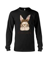 Mama Bunny Easter Rabbit Leopard Bandana Glasses Long Sleeve Tee thumbnail
