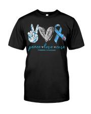 Peace Love Cure Diabetes Awareness T-Shirt Premium Fit Mens Tee thumbnail