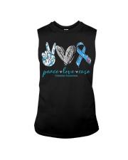Peace Love Cure Diabetes Awareness T-Shirt Sleeveless Tee thumbnail