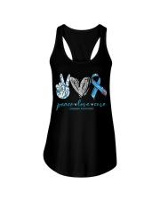 Peace Love Cure Diabetes Awareness T-Shirt Ladies Flowy Tank thumbnail