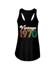 50th Birthday Gift - Vintage 1970 - Retro Bday 50 Ladies Flowy Tank thumbnail