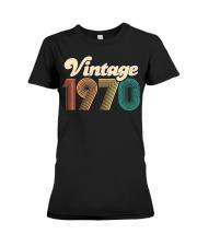 50th Birthday Gift - Vintage 1970 - Retro Bday 50 Premium Fit Ladies Tee thumbnail