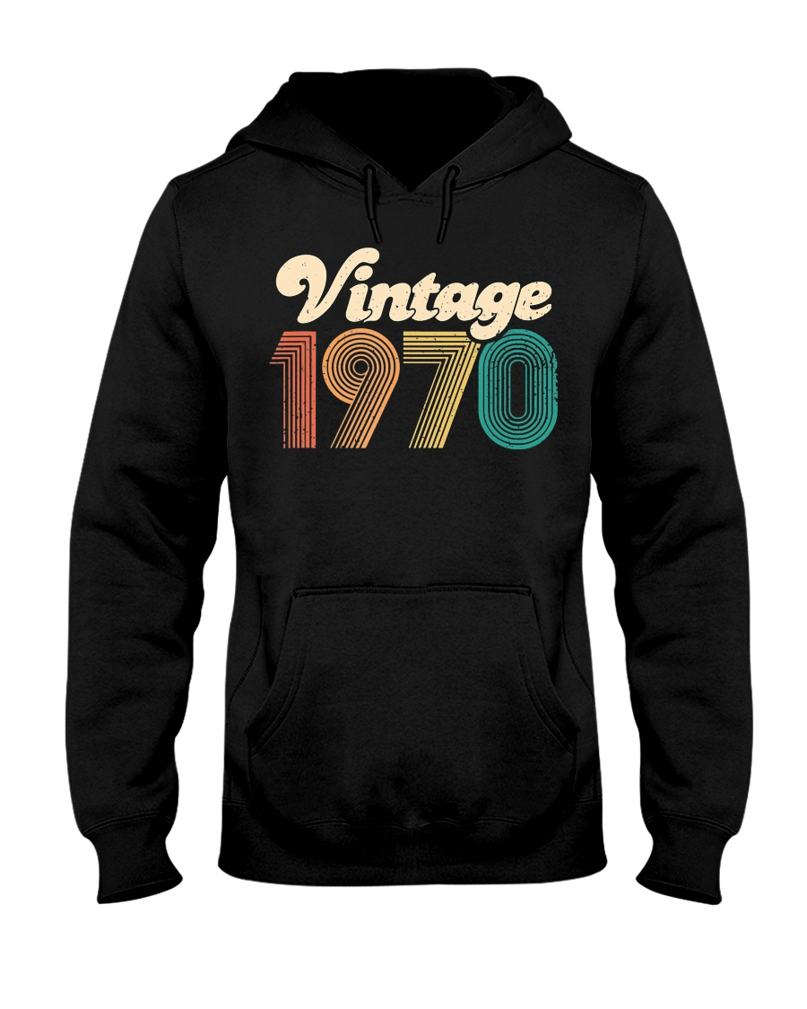 50th Birthday Gift - Vintage 1970 - Retro Bday 50 Hooded Sweatshirt