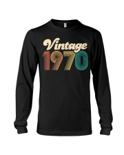 50th Birthday Gift - Vintage 1970 - Retro Bday 50 Long Sleeve Tee tile