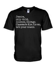 PARASITE Jessica Only Child Illinois Chicago V-Neck T-Shirt thumbnail