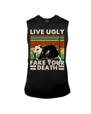 Live Ugly Fake Your Death Opossum Funny Ugly Cat Sleeveless Tee thumbnail