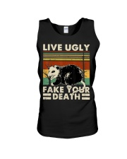 Live Ugly Fake Your Death Opossum Funny Ugly Cat Unisex Tank thumbnail