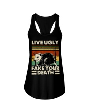 Live Ugly Fake Your Death Opossum Funny Ugly Cat Ladies Flowy Tank thumbnail