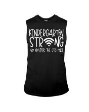 Kindergarten Strong No Matter Wifi The Distance Sleeveless Tee thumbnail