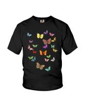 Butterflies Slim Fit T-Shirt Youth T-Shirt thumbnail