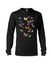 Butterflies Slim Fit T-Shirt Long Sleeve Tee thumbnail