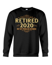 Retired 2020 Retirement Gifts For Men Women Funny Crewneck Sweatshirt thumbnail