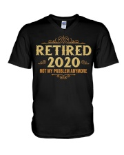 Retired 2020 Retirement Gifts For Men Women Funny V-Neck T-Shirt thumbnail