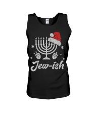 Christmas Ugly Hanukkah Sweater menorah Santa hat Unisex Tank thumbnail