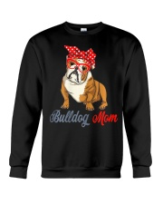 Womens Bulldog Mom Cute Bulldog With Sunglasses Crewneck Sweatshirt thumbnail
