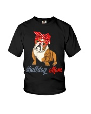 Womens Bulldog Mom Cute Bulldog With Sunglasses Youth T-Shirt thumbnail