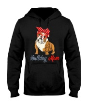 Womens Bulldog Mom Cute Bulldog With Sunglasses Hooded Sweatshirt front